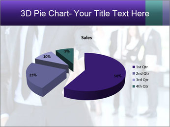 A business man with an open hand PowerPoint Template - Slide 35