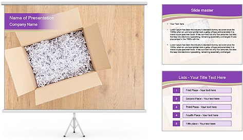 An open box PowerPoint Template