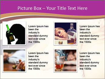 Drunk zoung topless woman PowerPoint Template - Slide 14