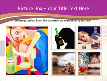 Drunk zoung topless woman PowerPoint Template - Slide 19
