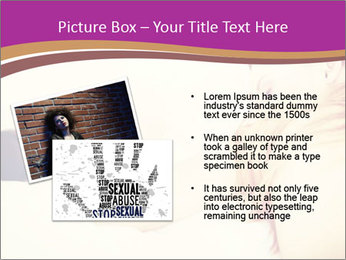 Drunk zoung topless woman PowerPoint Template - Slide 20