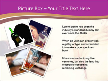 Drunk zoung topless woman PowerPoint Template - Slide 23
