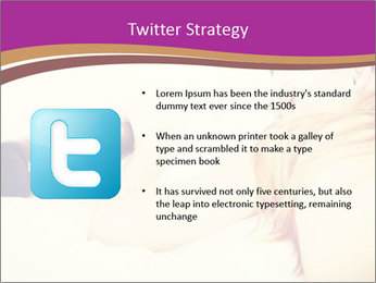 Drunk zoung topless woman PowerPoint Template - Slide 9