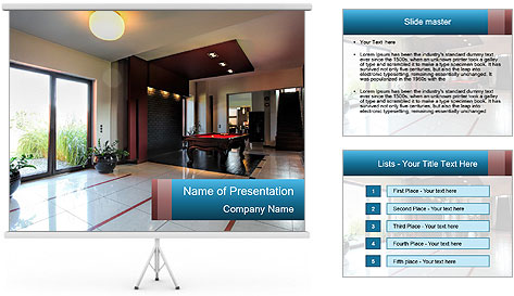 Billard table PowerPoint Template