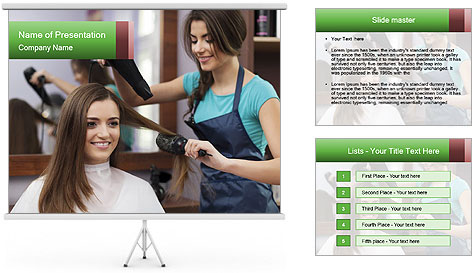 Female hairdresser PowerPoint Template