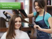 Female hairdresser PowerPoint Template