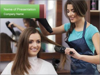 Female hairdresser PowerPoint Templates - Slide 1