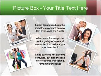 Female hairdresser PowerPoint Templates - Slide 24