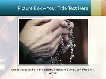 Woman praying PowerPoint Template - Slide 15