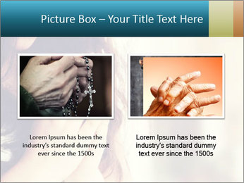 Woman praying PowerPoint Template - Slide 18