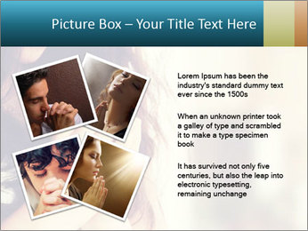 Woman praying PowerPoint Template - Slide 23