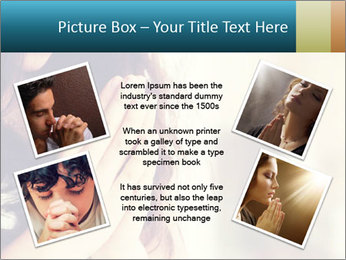 Woman praying PowerPoint Template - Slide 24