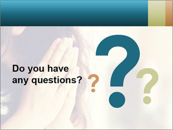 Woman praying PowerPoint Template - Slide 96