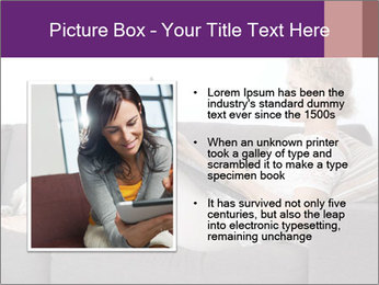 Woman with laptop PowerPoint Template - Slide 13