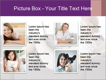 Woman with laptop PowerPoint Template - Slide 14