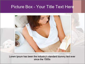 Woman with laptop PowerPoint Template - Slide 15