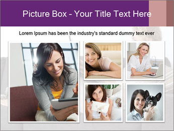Woman with laptop PowerPoint Template - Slide 19