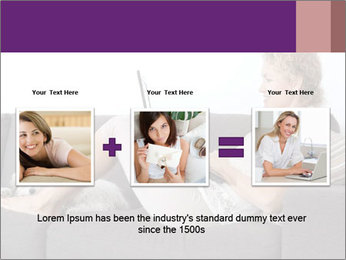 Woman with laptop PowerPoint Template - Slide 22