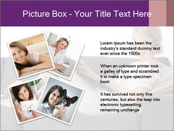 Woman with laptop PowerPoint Template - Slide 23
