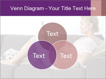 Woman with laptop PowerPoint Template - Slide 33