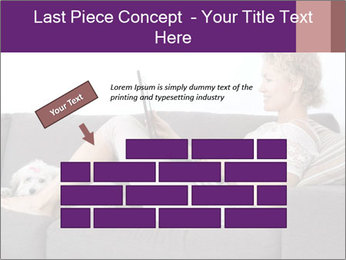 Woman with laptop PowerPoint Template - Slide 46