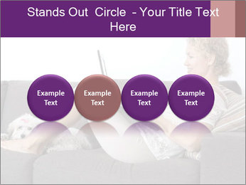 Woman with laptop PowerPoint Templates - Slide 76