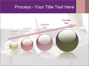 Woman with laptop PowerPoint Templates - Slide 87