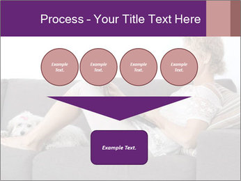 Woman with laptop PowerPoint Template - Slide 93