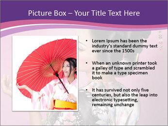Japanese geisha PowerPoint Templates - Slide 13