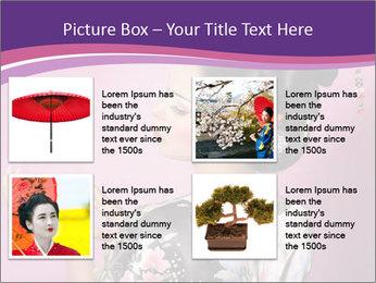 Japanese geisha PowerPoint Templates - Slide 14