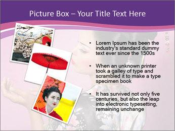 Japanese geisha PowerPoint Template - Slide 17