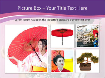 Japanese geisha PowerPoint Templates - Slide 19