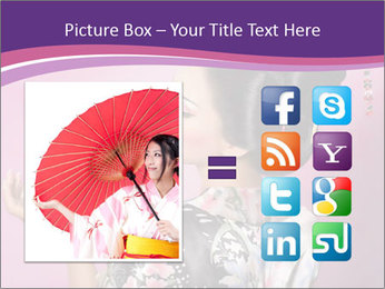 Japanese geisha PowerPoint Templates - Slide 21