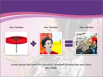 Japanese geisha PowerPoint Template - Slide 22