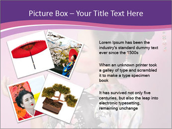 Japanese geisha PowerPoint Templates - Slide 23