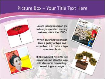 Japanese geisha PowerPoint Templates - Slide 24