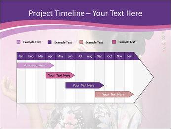 Japanese geisha PowerPoint Templates - Slide 25