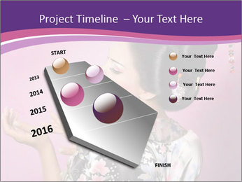 Japanese geisha PowerPoint Templates - Slide 26