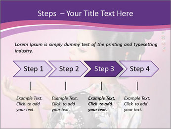 Japanese geisha PowerPoint Template - Slide 4