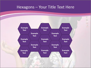 Japanese geisha PowerPoint Templates - Slide 44