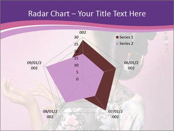 Japanese geisha PowerPoint Templates - Slide 51