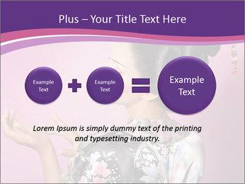 Japanese geisha PowerPoint Templates - Slide 75
