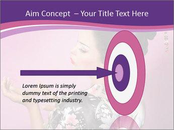 Japanese geisha PowerPoint Template - Slide 83