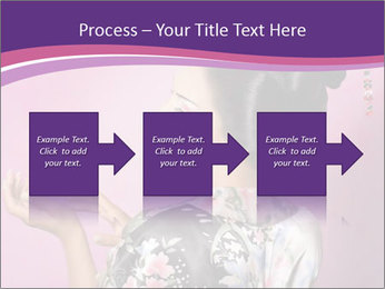 Japanese geisha PowerPoint Template - Slide 88