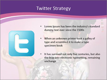 Japanese geisha PowerPoint Templates - Slide 9