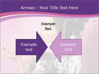 Japanese geisha PowerPoint Templates - Slide 90