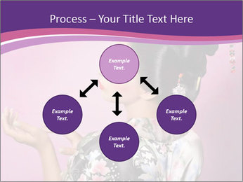 Japanese geisha PowerPoint Template - Slide 91