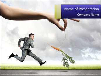 Funny image of businessman PowerPoint Template