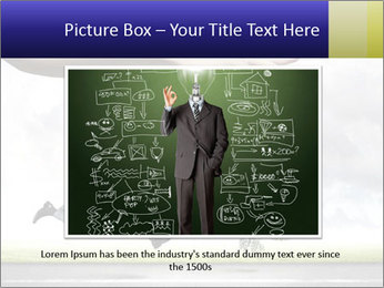 Funny image of businessman PowerPoint Template - Slide 16