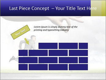 Funny image of businessman PowerPoint Template - Slide 46